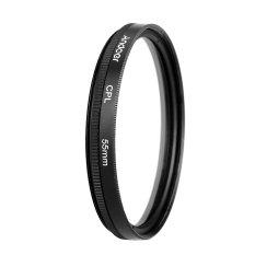 Andoer 55mm Digital Slim CPL Circular Polarizer Polarizing Glass Filter For DSLR Camera Lens