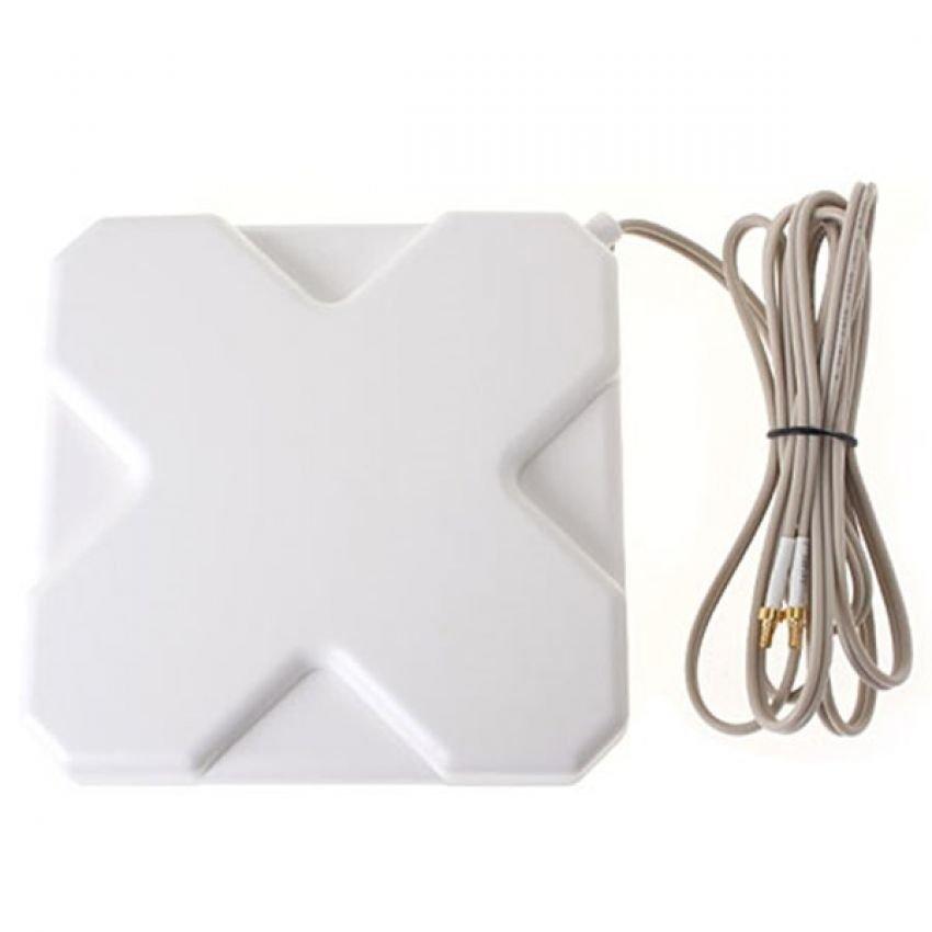 Antena Portable 35dBi modem 3G 4G LTE FDD TDD W-Max 435 Double Pigtail Untuk Modem Bolt Slim 5372s - Putih