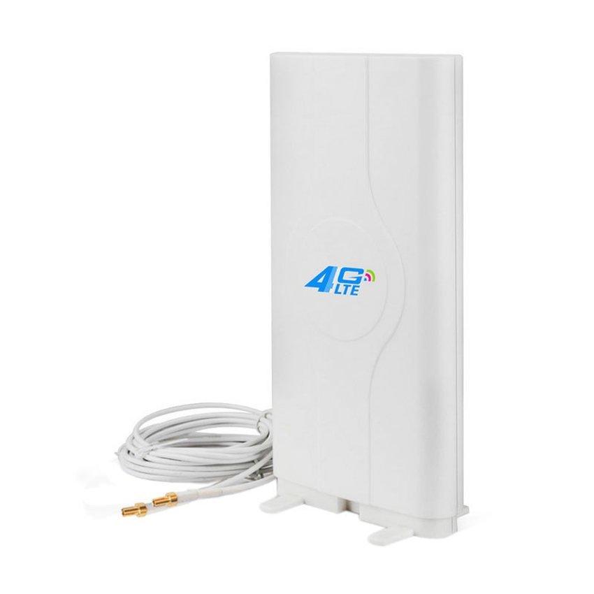 Antena Portable 45dBi Minimax G45 Penguat Sinyal 3G 4G LTE Untuk Modem Bolt MAx E5372s Double Pigtail - Putih