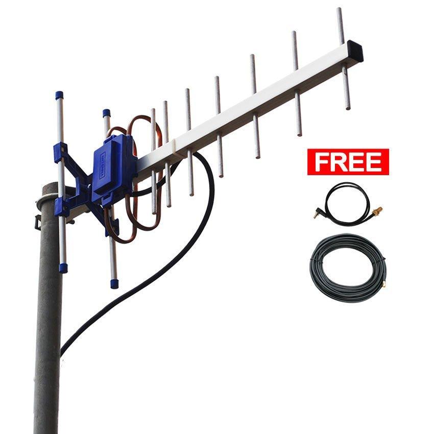 Antena Yagi Untuk Modem  ZTE MF62 High Extreme 4G LTE / 3G EVDO 45dBi