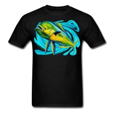 AOSEN FASHION Custom Printed Men's Australia Mahi T-Shirts Black