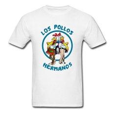 AOSEN FASHION Fashion Men's Los Pollos Hermanos T-Shirts White