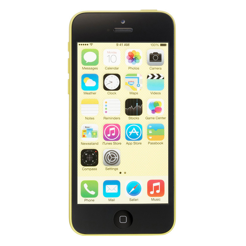 Apple iPhone 5C - 32 GB - Kuning - Grade A + Gratis Tempered Glass - Power Bank 20000mAH