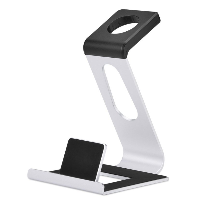 Apple Watch Stand iPhone Docking Station BELK Charging Stand Portable 2 in 1 Multifunctional Charger Dock Cradle for iWatch and all Smart PhonesSilver (Intl)