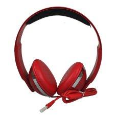 Army Handsfree Earphone Perfect Bass Sound R6 - Merah