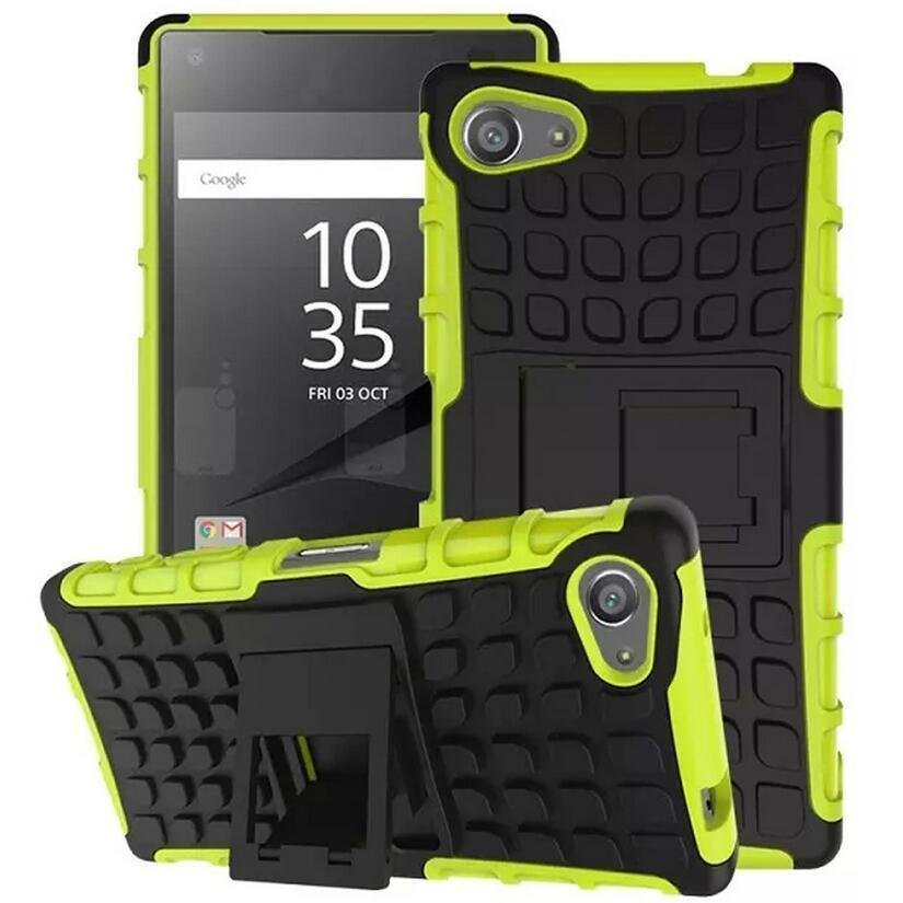 Arrival Armor Rugged Hybrid Stand Cover Case for Sony Xperia Z5 (Green) (Intl)