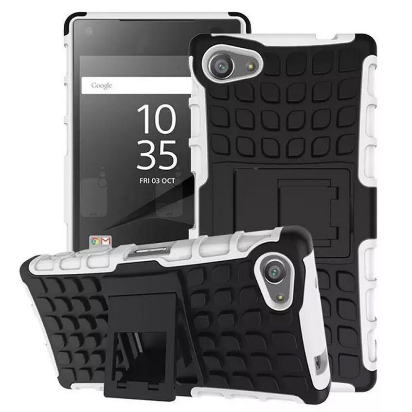 Arrival Armor Rugged Hybrid Stand Cover Case for Sony Xperia Z5 (White) (Intl)