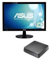 """Asus - Mini PC VivoPC - 18.5"""" - VC62B-B017M - 4 GB - Hitam"""