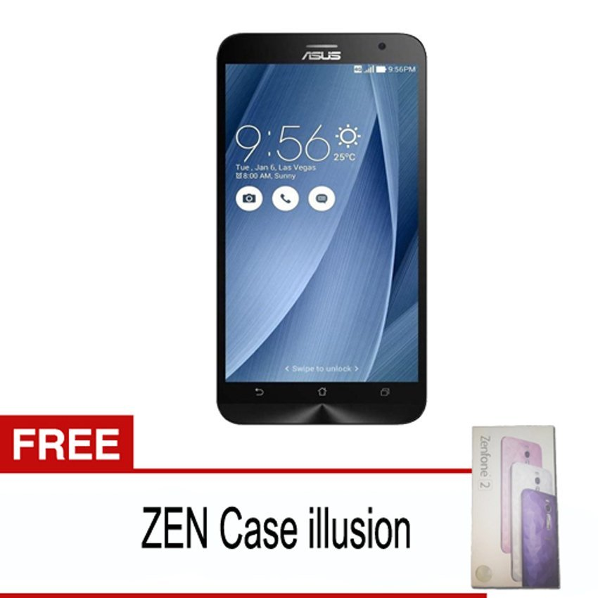 Asus Zenfone 2 - 32GB - Silver + Gratis Zen Case Illusion