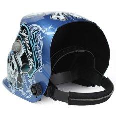 Audew New Style Solar Welder Mask Auto-Darkening Welding Helmet Skull Cobweb (Intl)