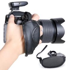 Azone PU Leather Soft Camera Hand Grip Wrist Strap (Black)