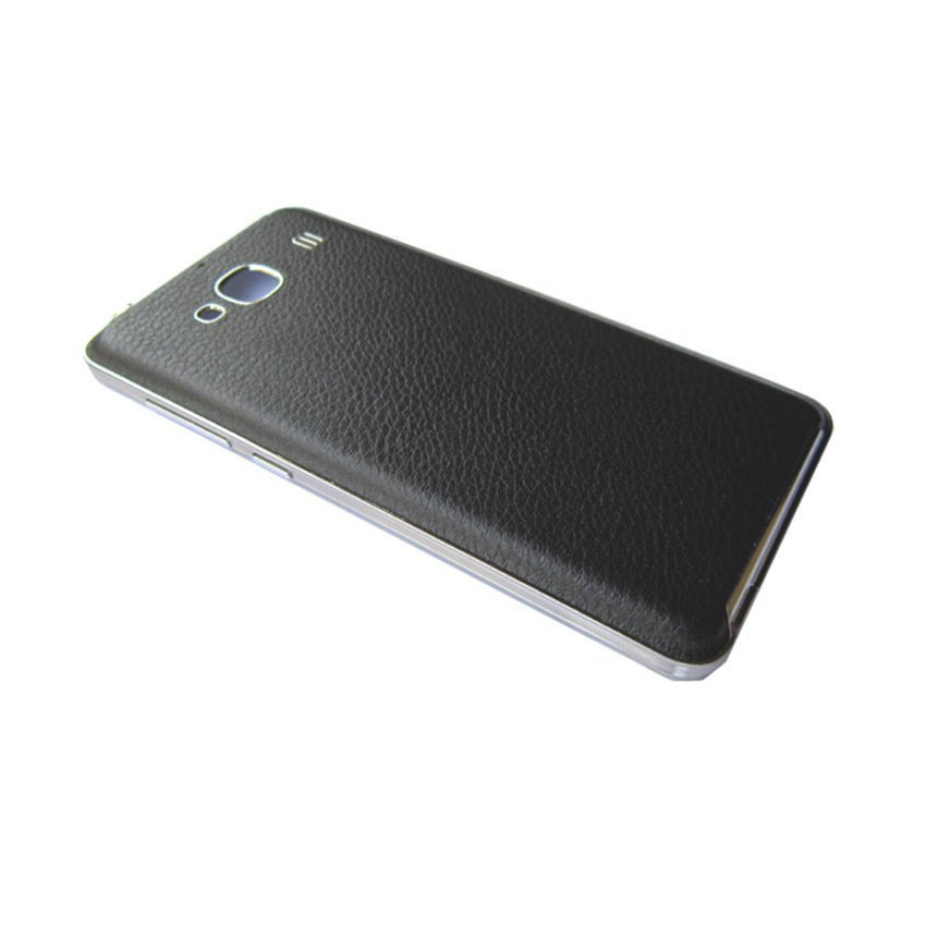 Back Cover Case Xiaomi Redmi 2S Leather - Hitam + Gratis Screenguard