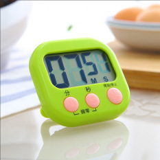 Bakery Kitchen Timer Clock Big Screen Clock Electronic Timer Reminder With Stent (Green) - Intl