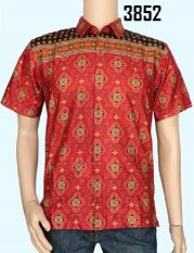 Baladewa Batik Kemeja Pria Katun Merah 3852