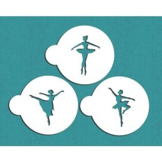 Ballerina Cookie Stencil Set ST-343, Cupcake Stencil For Cake Decorating, Cake Decorating Supplies, Free Stencil For All (Intl)