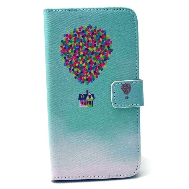 Balloon Design Leather Flip Mobile Case for Samsung Galaxy S6 Edge (Turquoise)