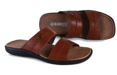 Baricco Brc 374 Sandal Casual Pria -Kulit Asli Keren - Brown