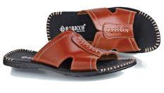 Baricco Brc 378 Sandal Casual Pria -Kulit Asli Keren - Tan