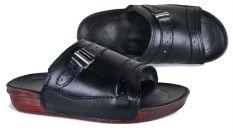 Baricco Brc 454 Sandal Casual Pria -Kulit Asli Keren - Black