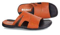 Baricco Brc 653 Sandal Casual Pria -Kulit Asli Keren - Tan
