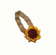 Barika Bandana Bayi Baby Headband Bando Bayi Anak Bunga Pita Warna Kuning 2066