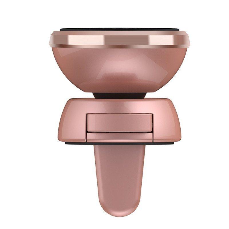 Baseus 360 Degree Rotation Magnetic Car Air Vent Holder - Rose Gold