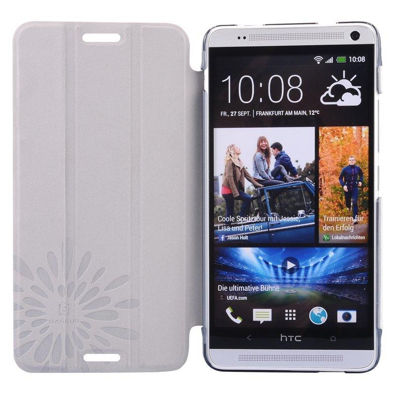 Baseus Folio Stand Case - HTC One Max T6 - White
