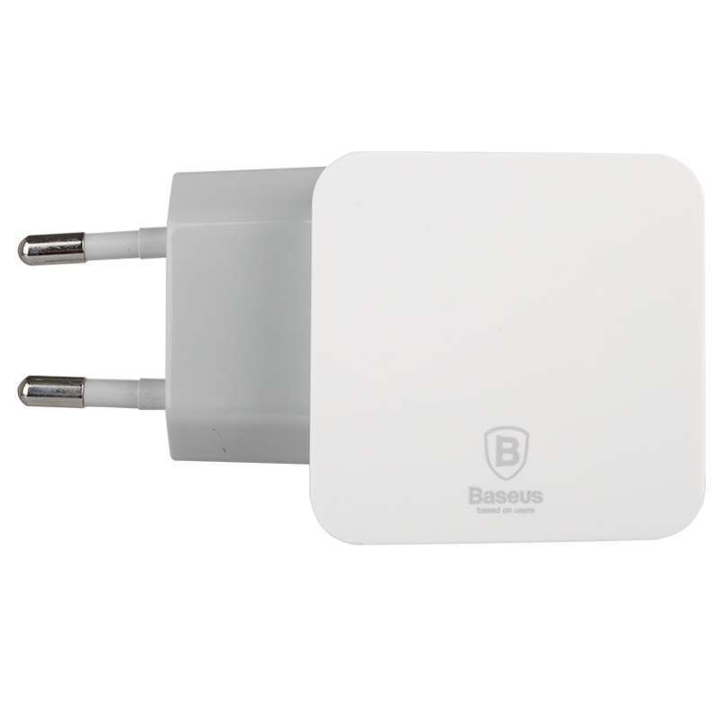 Baseus Fondroid Series Double USB Charger 3.1A Gray White for iPad Tablet dan Smartphone