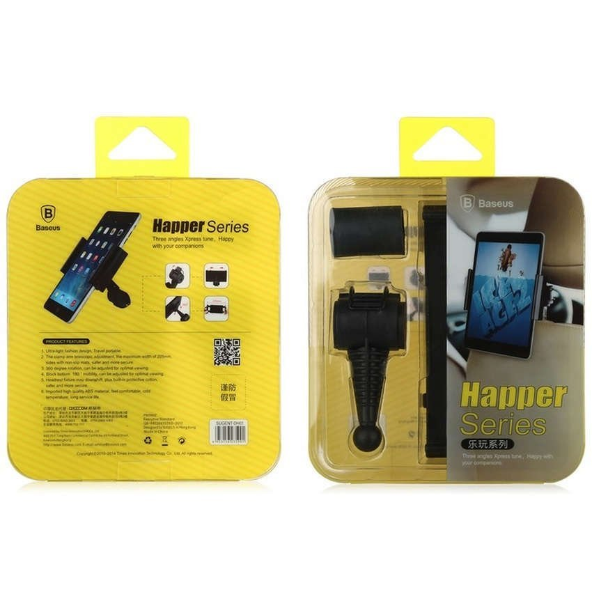 Baseus Happer Series Car Mount Holder for Tablet 7-10 Inch - Hitam