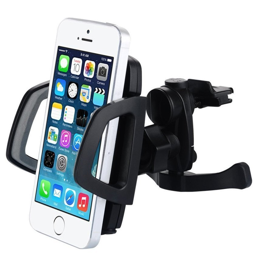 Baseus Wind Series Air Conditioning Car Holder for Smartphone / iPhone 4 - 6 Inch - Hitam