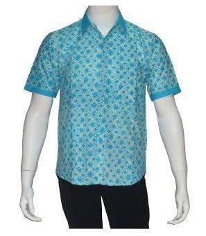 Batik Solo Bo8003 Baju Batik Pria Motif Truntum Biru