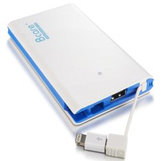 Bcare Slim Powerbank With Integrated Micro USB Output - 7800 mAh - Putih