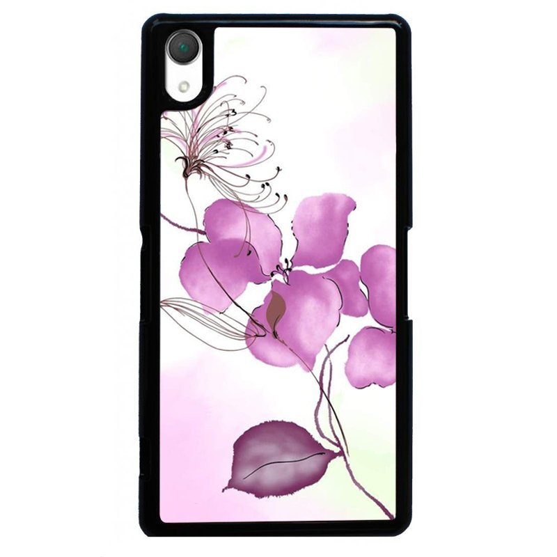 Beautiful Flower Painting Phone Case for SONY Xperia Z4 (Black)