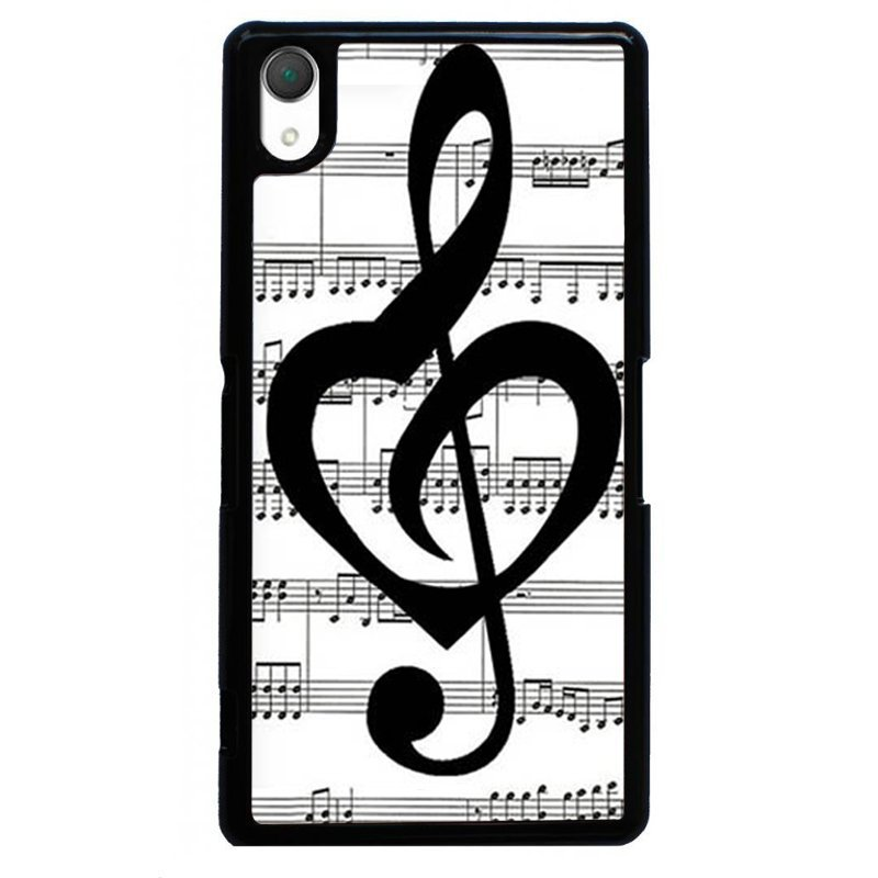 Beautiful Music Note Painting Phone Case for SONY Xperia Z2 (Black)