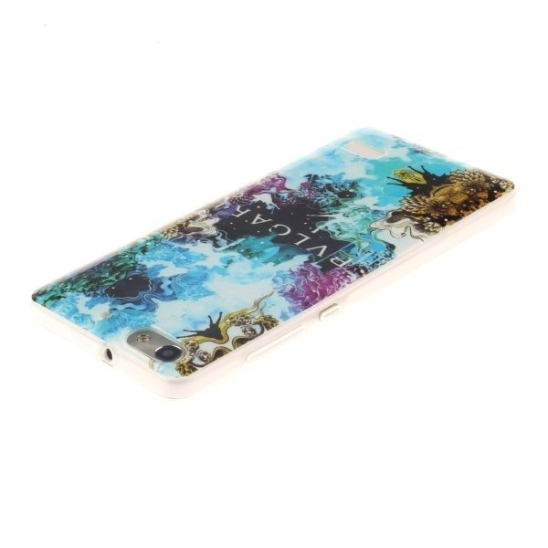 Beautiful Pattern TPU Protective Case for Huawei Honor 4C (Blue) (Intl)