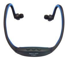 Best CT sport MP3 player Slot Micro SD/TF with FM Radio -hitam/biru