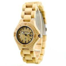 BEWELL High Quality Environmental Natural Wood Lightweight Wristwatch Water Resistant Excellent Women Quartz Watch With Calendar - Intl - Intl