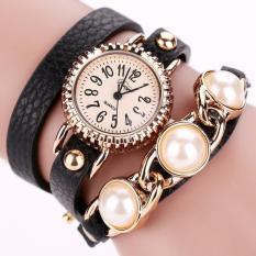 Bigskyie Duoya Femmes Mode Casual Bracelet En Cuir Montre-Bracelet Femmes Robe Black Free Shipping