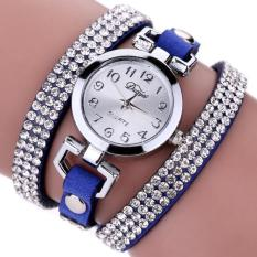 Bigskyie Duoya Femmes Mode Casual Bracelet En Cuir Montre-Bracelet Femmes Robe Blue Free Shipping