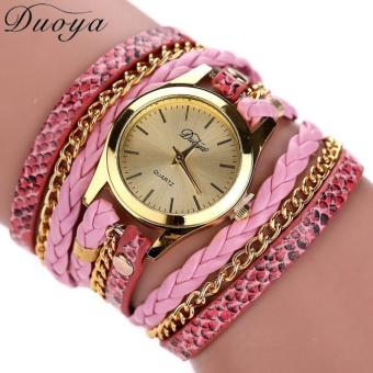 Bigskyie Duoya Hot Selling Luxury Fashion Heart Pendant Women Watches Pink Free Shipping