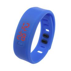 Bigskyie Mens Womens Rubber LED Watch Date Sports Bracelet Digital Wrist Watch Blue