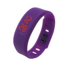 Bigskyie Mens Womens Rubber LED Watch Date Sports Bracelet Digital Wrist Watch Purple