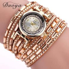 Bigskyie Women Luxury Crystal Women Gold Bracelet Quartz Wristwatch Rhinestone Watches Gold Free Shipping