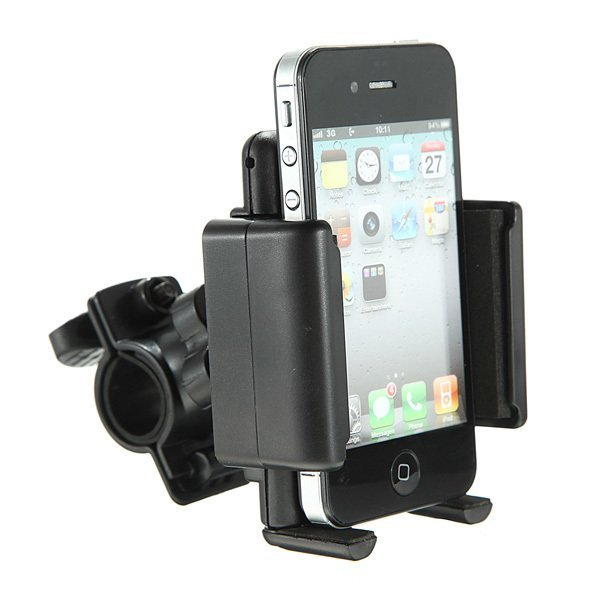 Bike Bicycle Handle Mount Cradle Holder Stand For iPhone5s Samsung HTC Nokia LG (Intl)