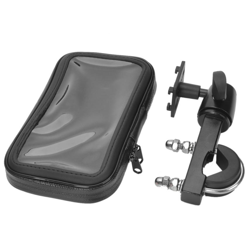 Bike Protective Water Resistant Bag with Mounting Holder for Cellphone / Navigator (Black) (Intl)