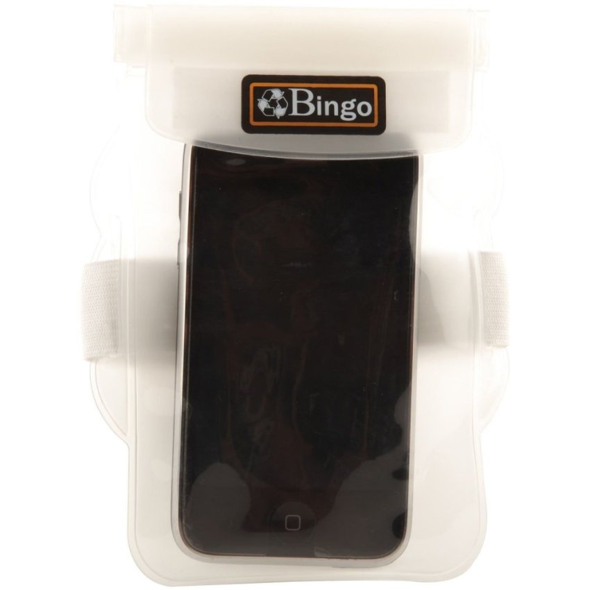 Bingo waterproof Zipper Lock Handphone Waterproof Bag - (Putih)