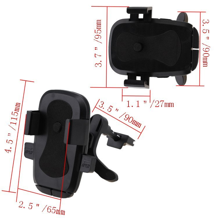 Black Car Air Vent Phone Mount Holder Cradle Mobile Stand 360° (Intl)