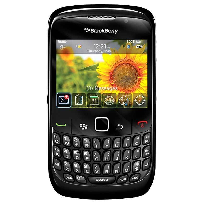 Blackberry Gemini 8520 - 256 MB - Hitam + Gratis Power Bank 3000mAh
