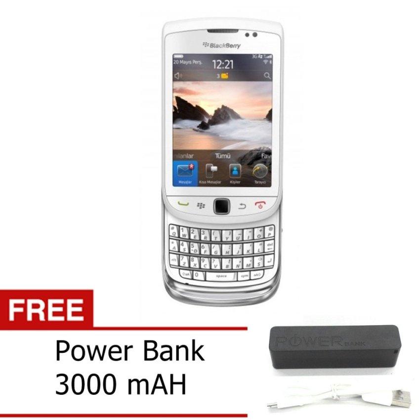 Blackberry Torch 9800 - 4GB - Putih + Gratis Power Bank 3000mAh