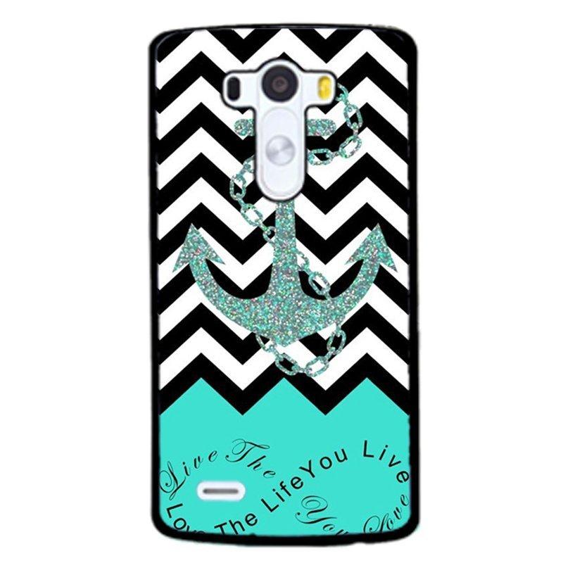 Blue Anchor Phone Case for LG G3 (Black)